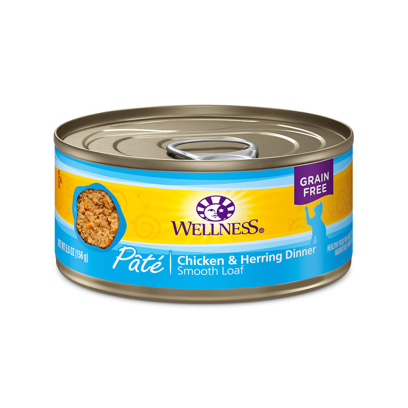 Wellness Complete Health Pâté Chicken & Herring Cat Wet Food