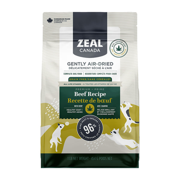 Zeal Canada Gently Air-Dried Beef with Hemp Dog Food