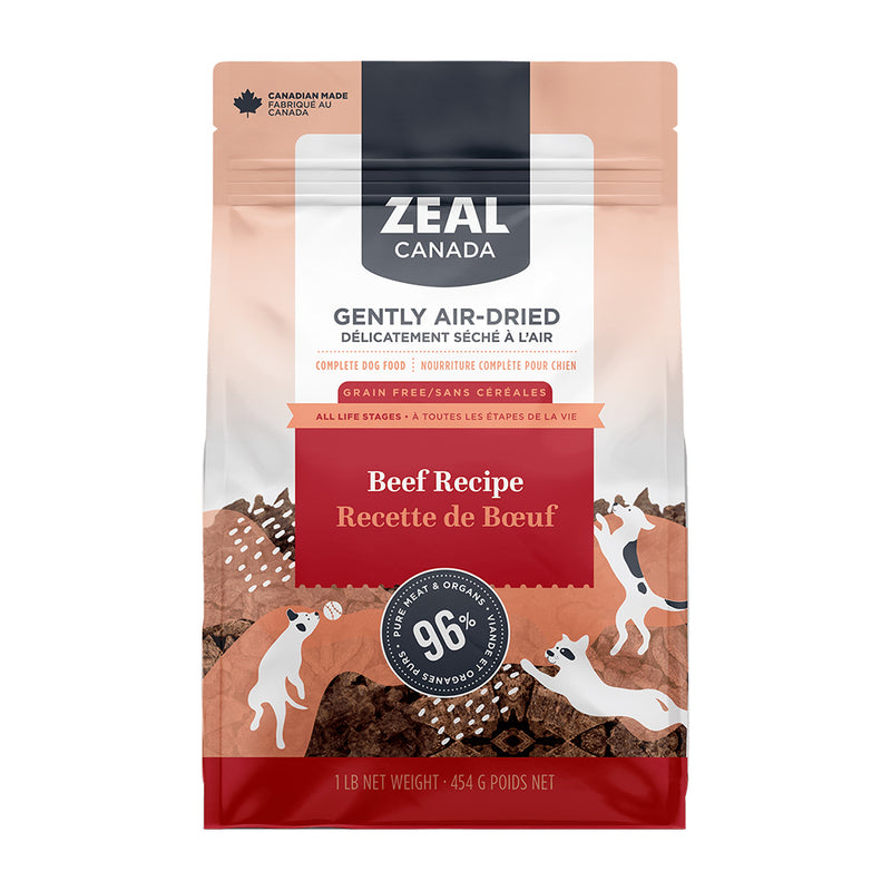 Zeal Canada Gently Air-Dried Beef Dog Food