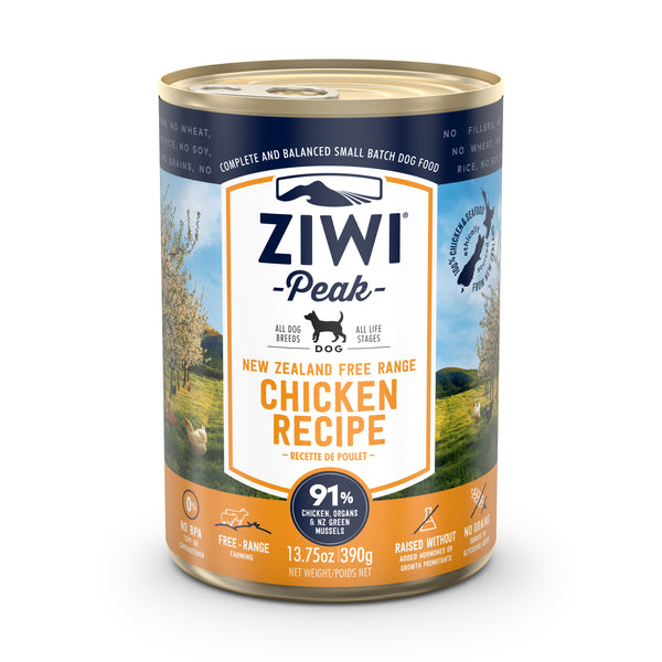 ZIWI Peak Free-Range Chicken Dog Wet Food, 390g