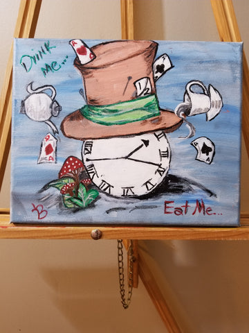 """Time For Tea"" 8"" x 10"" Acrylic Painting on a Wrapped Canvas"