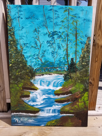 """My Secret hideaway "" 24x36 Acrylic Painting on a Wrapped Canvas"