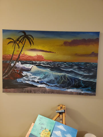 """Tropical Beaches "" 24x36"