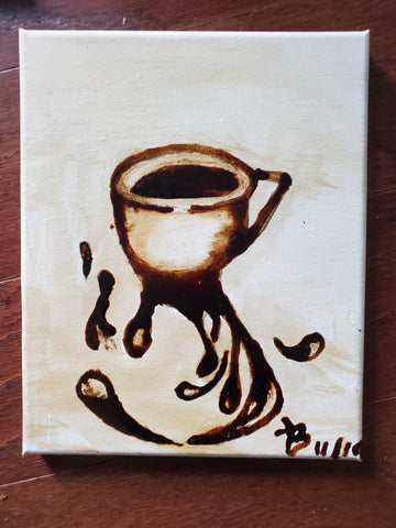 """Tripple Shot Espresso "" 8x10 Coffee Art"