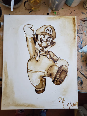 """Caffé Mario "" 16x20 Coffee Art"