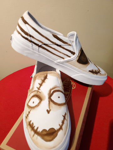 Custom Designed Coffee infused Van's size 7.5