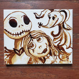 """Undying love "" 8x10 Coffee Art"