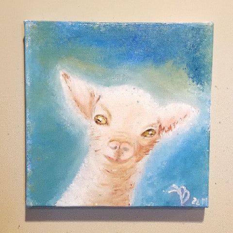 """My Billy goat"" 8x8"