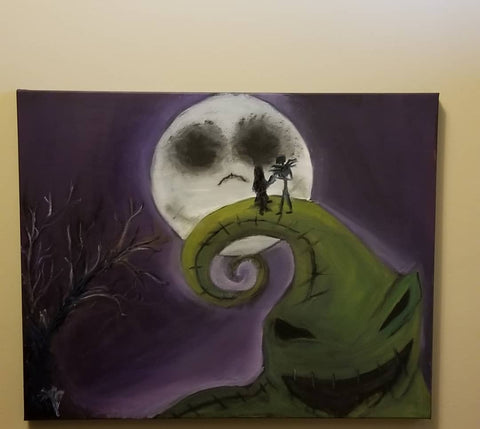 """Nightmare before Christmas "" 16x20"