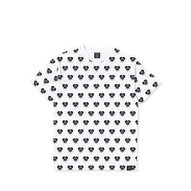 Crying Heart AOP White Tee