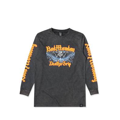 Stonewash Death's Grip Long Sleeve Graphic Tee