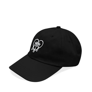 Crying Heart Dad Hat Black