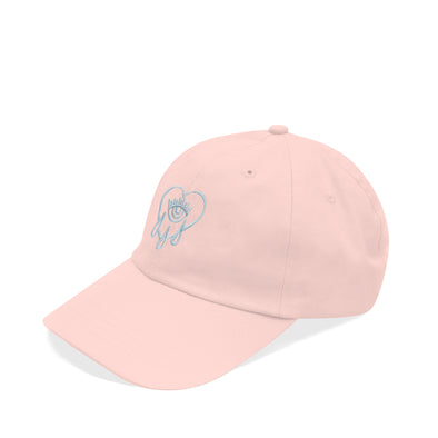 Crying Heart Dad Hat Pink