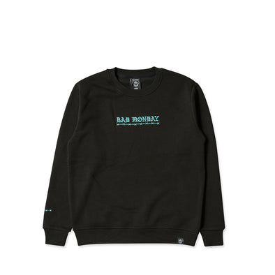 Core Embroidered Black Crew Sweater