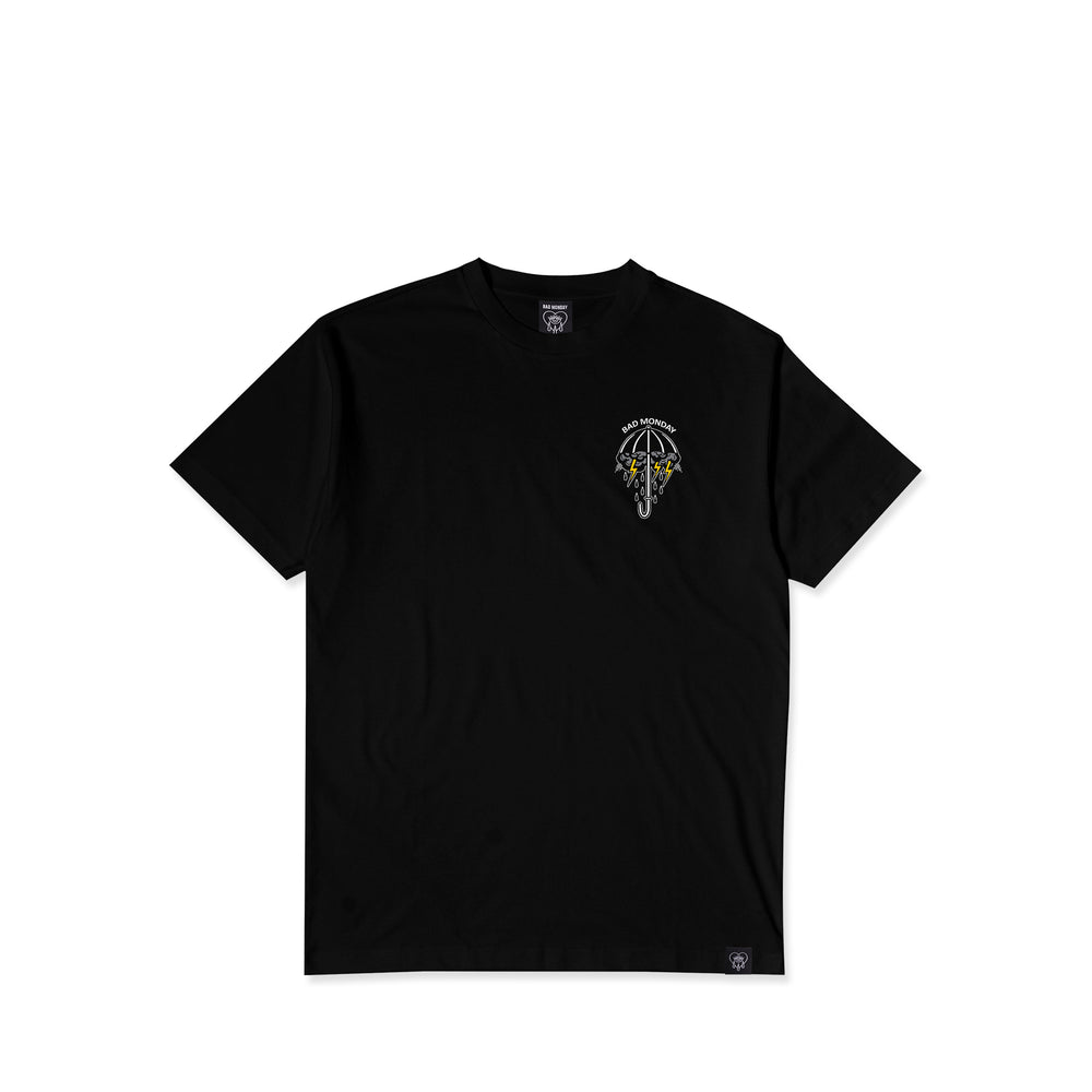 It Always Rains Black Tee
