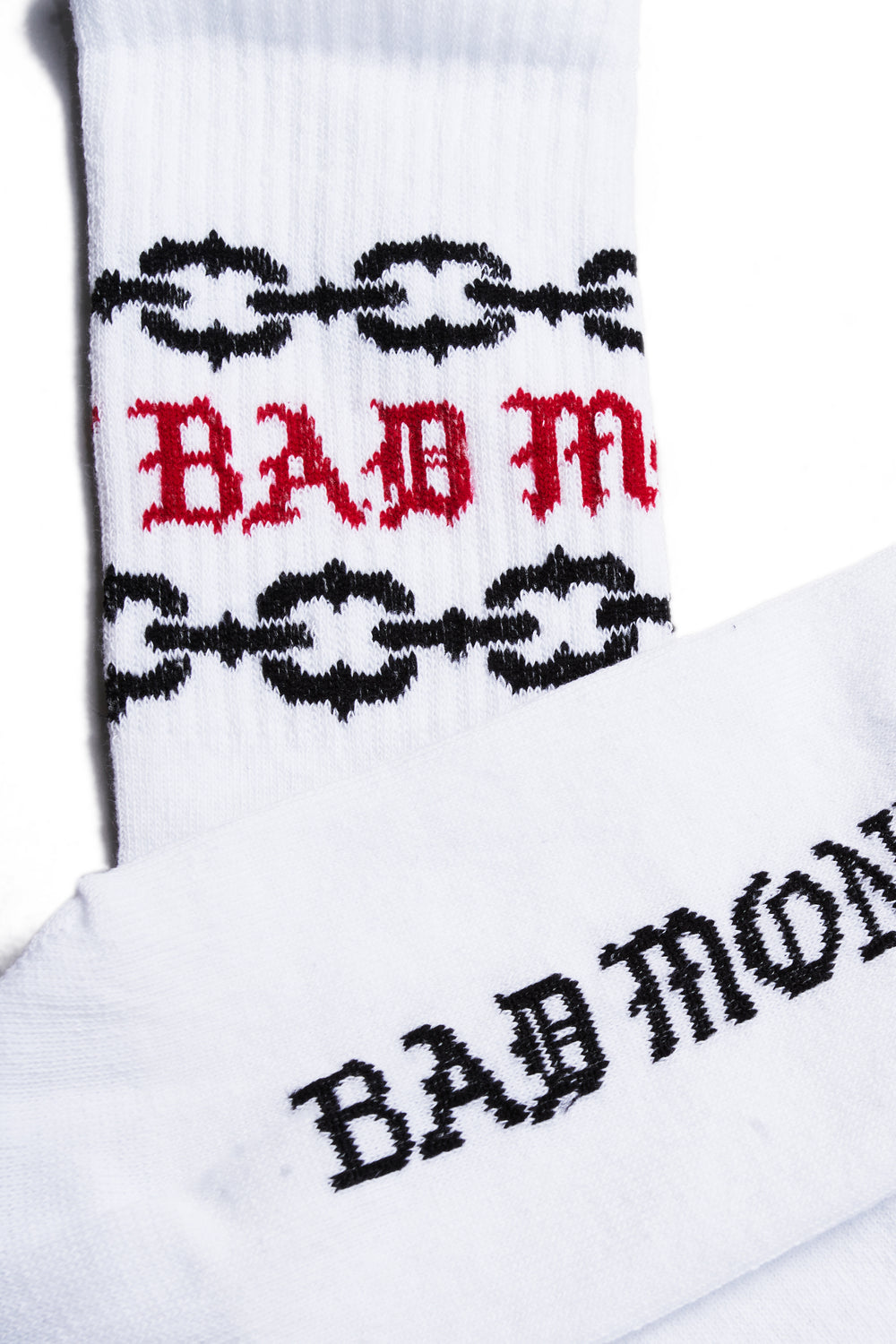 White Gothic Chains Socks