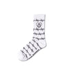 White Barbed Wire Crying Heart Socks