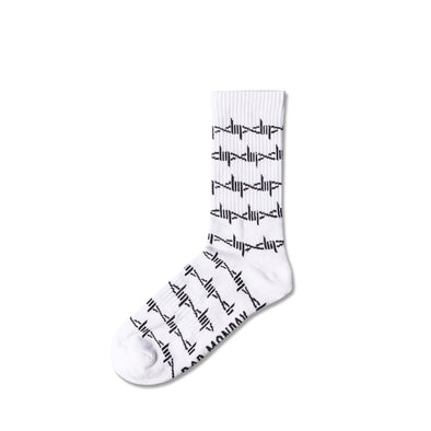 White Barbed Wire Socks