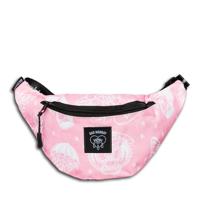 Pink Flash Print Bumbag