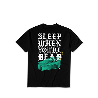Sleepy Head Black Tee