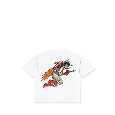 Rocket Girl White Crop Tee