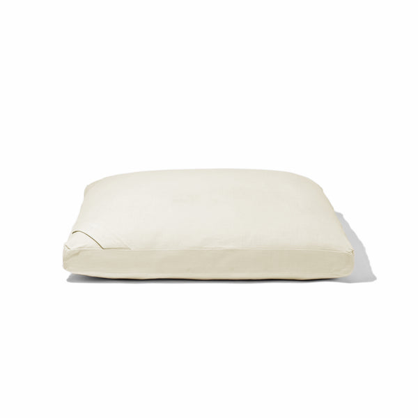 Organic Flat Meditation Cushion - vanilla