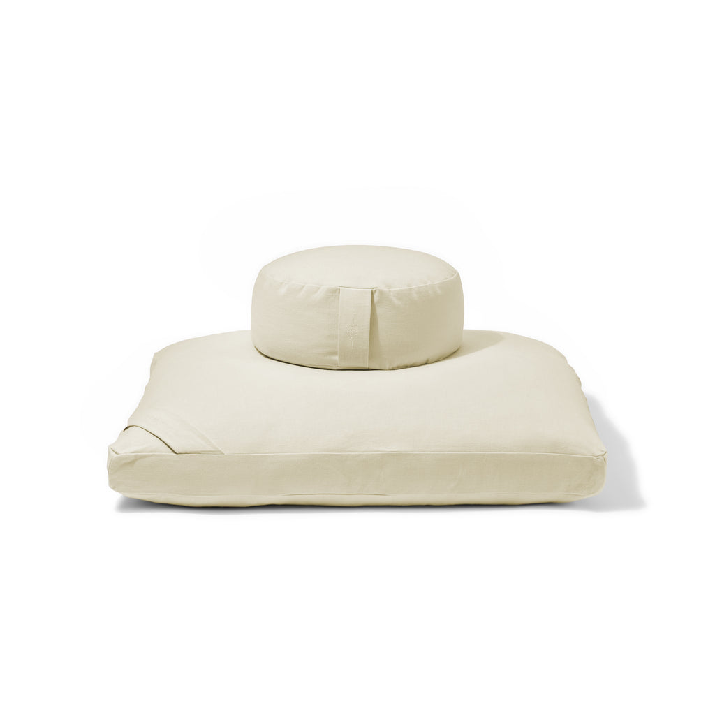 Organic Meditation Cushion Set - vanilla