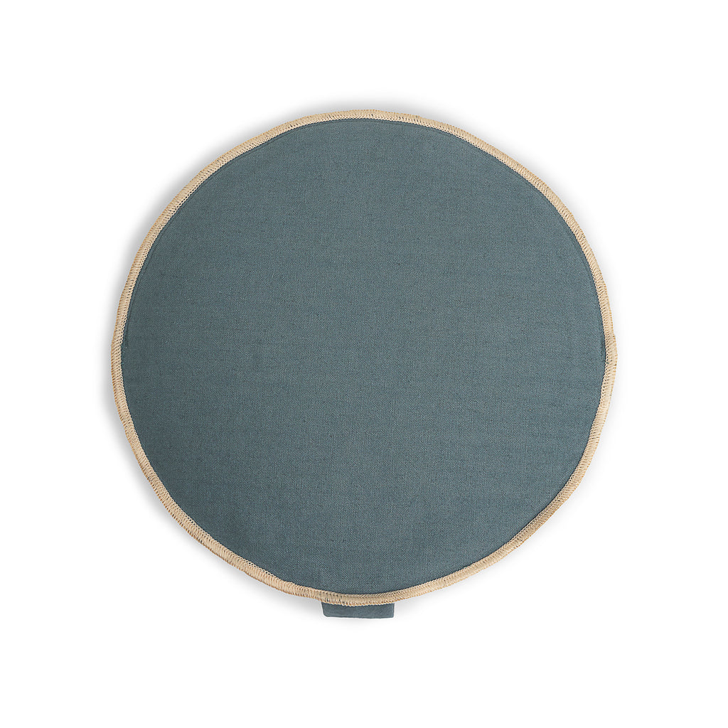 Organic Round Meditation Cushion - ocean