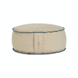 Organic Round Meditation Cushion - dune