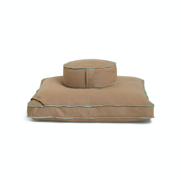 Organic Meditation Cushion Set - earth