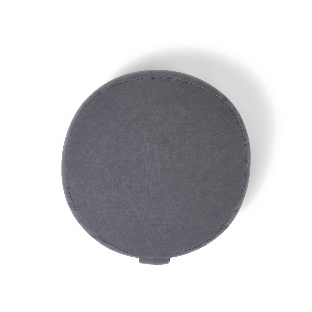 Organic Round Meditation Cushion - slate