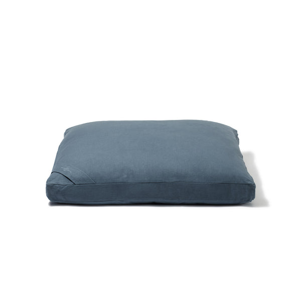 Organic Flat Meditation Cushion - teal