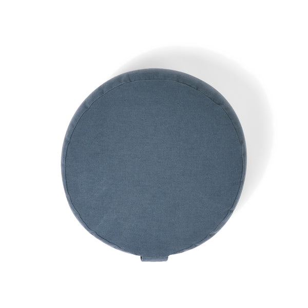Organic Round Meditation Cushion - teal