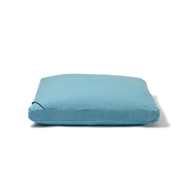 Organic Flat Meditation Cushion - water