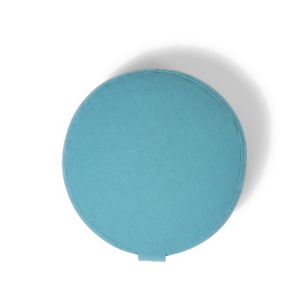 Organic Round Meditation Cushion - water
