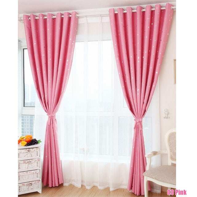 1Pc Star Blackout Curtains For Bedroom Living Room Curtain Children ...