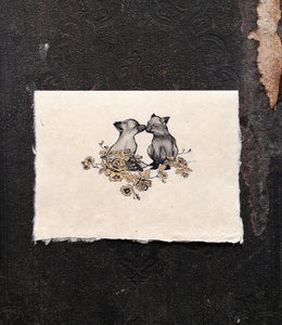 Paramour Kissing Fox Card