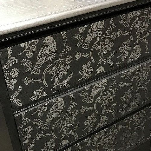 Hometalk Project: Black & Silver Dresser