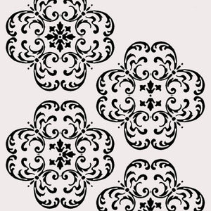 #1010R Hampton Medallion Repeat Stencil