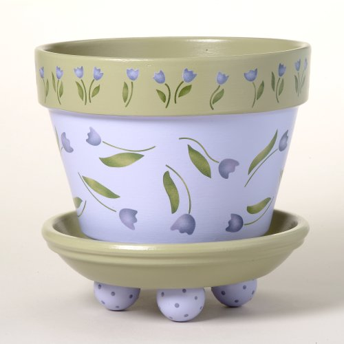 #163 Tori's Tulips Flower Pot Stencil