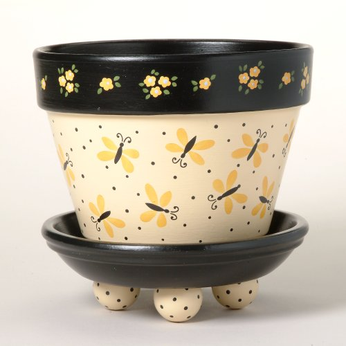 #168 Butterfly Dance Flower Pot Stencil