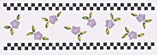 #222 Girly's Gone Checked Stencil