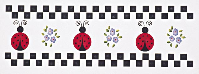 #224 Lady Bug Border Stencil