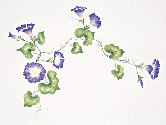 #401 Heavenly Morning Glory Stencil