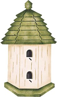 #508 Cottage Birdhouse Stencil