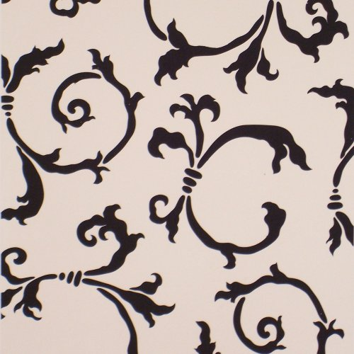 #535 Sinclair Swirls Stencil