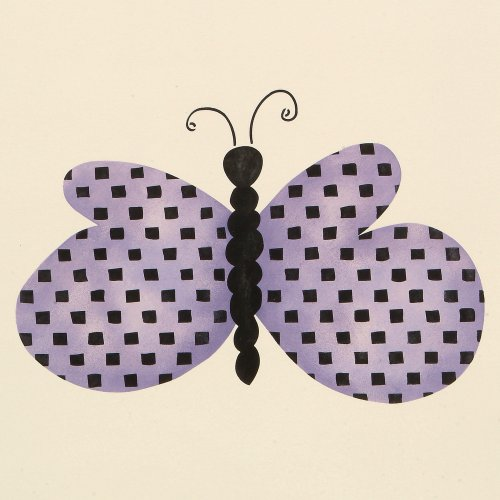#736 Checked Butterfly Stencil