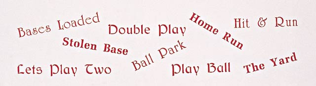 #824 The Olde Ball Game Stencil