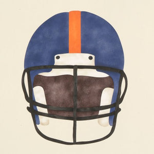 #845 Football Helmet Stencil