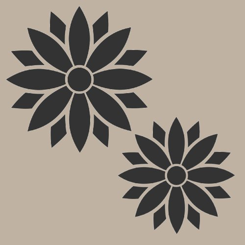 #919 Candy Flowers Stencil